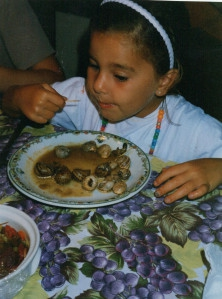 Raised with food culture, children learn early to enjoy snails
