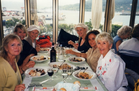 My Scandinavian sisters (Tuscany girls) for 25 years we have had monthly dinners. Here they join me in Portovenere, Italy