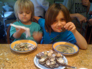 Dante and Luca will always love clams, storied food memories